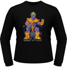 T-Shirts à manches longues  parodique Thanos de Avengers et Beerus de Dragon Ball Super : Le Dieu de la destruction... et son chat ! (Parodie )