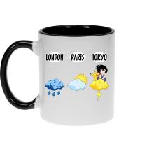Mug  parodique Sangoku et Pikachu : Météo Tokyo :) (Parodie )