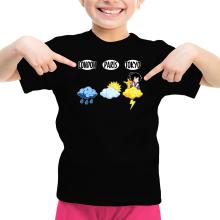 T-shirt Enfant Fille  parodique Sangoku et Pikachu : Météo Tokyo :) (Parodie )