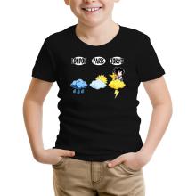 T-shirt Enfant  parodique Sangoku et Pikachu : Météo Tokyo :) (Parodie )