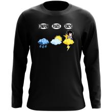 T-Shirt à manches longues  parodique Sangoku et Pikachu : Météo Tokyo :) (Parodie )