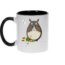 Mug  parodique Totoro et Link : Ni Vu ni connu... (Parodie )
