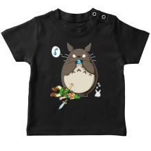 T-shirt bébé  parodique Totoro et Link : Ni Vu ni connu... (Parodie )