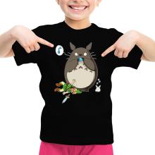 T-shirt Enfant Fille  parodique Totoro et Link : Ni Vu ni connu... (Parodie )