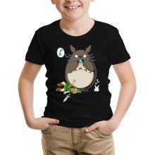 T-shirt Enfant  parodique Totoro et Link : Ni Vu ni connu... (Parodie )