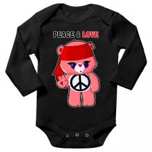 Body bébé manches longues  parodique Bisounours : Peace And Love ! (Chibi Version) (Parodie )