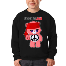 Sweat-shirts  parodique Bisounours : Peace And Love ! (Chibi Version) (Parodie )