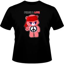 T-shirts  parodique Bisounours : Peace And Love ! (Chibi Version) (Parodie )