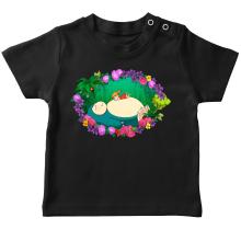 T-shirts  parodique Ronflex et Ondine sauce Totoro : Petite sieste en forêt... (Parodie )