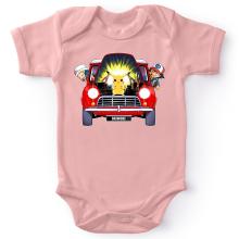Body bébé (Filles)  parodique Pikachu, Sasha et Aurore : Pika dépannage (Parodie )