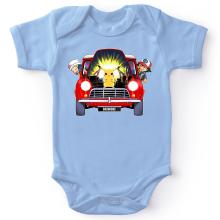 Body bébé  parodique Pikachu, Sasha et Aurore : Pika dépannage (Parodie )