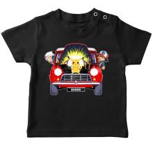 T-shirt bébé  parodique Pikachu, Sasha et Aurore : Pika dépannage (Parodie )