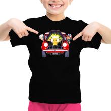 T-shirt Enfant Fille  parodique Pikachu, Sasha et Aurore : Pika dépannage (Parodie )