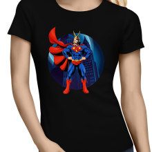 T-shirts Femmes  parodique All Might X Superman : Super AllMight man :) (Parodie )