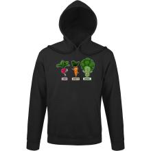 Sweats à capuche  parodique Sangoku, Broly et Raditz : Super Héros de la Planète Végétale (Parodie )