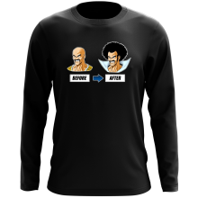 Funny Long Sleeve Tops - Mister Satan and Nappa ( Parody)