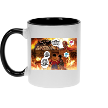Mug  parodique Luffy Vs Kaido aka Eren et le Titan Colossal : Un Combat titanesque... (Parodie )