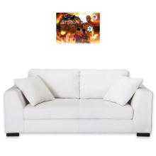 Sticker Mural  parodique Luffy, Kaido, Eren Jager et le Titan Colossal : Un Combat Titanesque piraté... !! (Parodie )