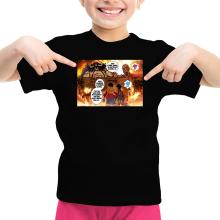 T-shirt Enfant Fille  parodique Luffy Vs Kaido aka Eren et le Titan Colossal : Un Combat titanesque... (Parodie )