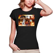 T-shirts Femmes  parodique Luffy Vs Kaido aka Eren et le Titan Colossal : Un Combat titanesque... (Parodie )