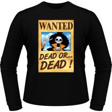 T-Shirts à manches longues  parodique Brook Wanted : Un Wanted qui tue !! YOHOHOHO !!! (Parodie )