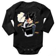 Body bébé manches longues  parodique Végéta de Dragon Ball Super et le Death Note : Une idée fixe... (Parodie )