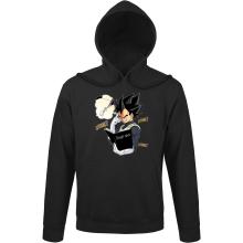 Sweat à capuche  parodique Végéta de Dragon Ball Super et le Death Note : Une idée fixe... (Parodie )