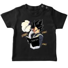 T-shirt bébé  parodique Végéta de Dragon Ball Super et le Death Note : Une idée fixe... (Parodie )