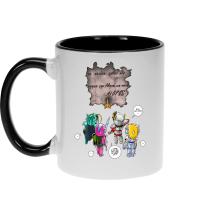 Mugs  parodique Seiya, Shiryu, Hyoga et Shun dans la maison d