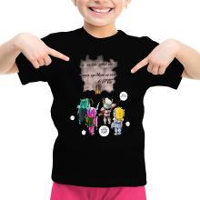 T-shirt Enfant Fille  parodique Seiya, Shiryu, Hyoga et Shun dans la maison d