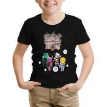 T-shirt Enfant  parodique Seiya, Shiryu, Hyoga et Shun dans la maison d