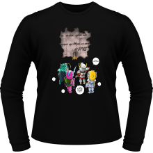T-Shirts à manches longues  parodique Seiya, Shiryu, Hyoga et Shun dans la maison d