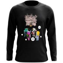 T-Shirt à manches longues  parodique Seiya, Shiryu, Hyoga et Shun dans la maison d
