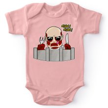 Funny Baby Bodysuit (Baby Girls) - The colossal Titan ( Parody)