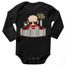 Funny Long sleeve Baby Bodysuit - The colossal Titan ( Parody)
