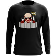 Funny Long Sleeve Top - The colossal Titan ( Parody)