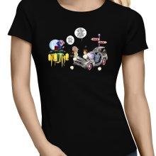 T-shirts Femmes  parodique Trunks Vs Doc et Marty Macfly : Collision dans les Couloirs du Temps ! (Parodie )