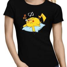 T-shirts Femmes  parodique Pikachu : Batterie déchargée :) (Parodie )