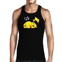 Funny Tank Tops - Pikachu - Battery Off ( Parody)