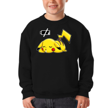 Funny Kids Sweater - Pikachu - Battery Off ( Parody)