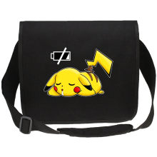 Funny Canvas Messenger Bags - Pikachu - Battery Off ( Parody)