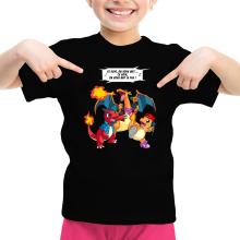 T-shirt Enfant Fille  parodique Dracaufeu, Reptincel et Salamèche : Ce soir, on vous met le Feu ! (Parodie )
