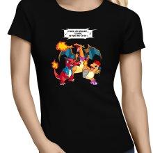 T-shirts Femmes  parodique Dracaufeu, Reptincel et Salamèche : Ce soir, on vous met le Feu ! (Parodie )