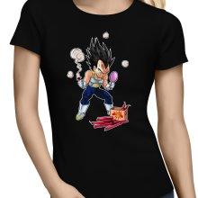T-shirts Femmes  parodique Végéta : Coiffure explosive :) (Parodie )
