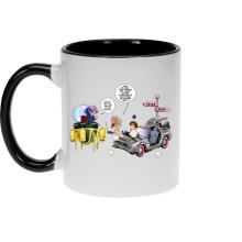 Mugs  parodique Trunks Vs Doc et Marty Macfly : Collision dans les Couloirs du Temps ! (Parodie )