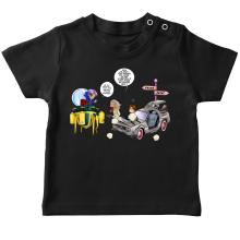 T-shirts (French Days)  parodique Trunks Vs Doc et Marty Macfly : Collision dans les Couloirs du Temps ! (Parodie )