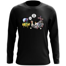 T-Shirts à manches longues  parodique Trunks Vs Doc et Marty Macfly : Collision dans les Couloirs du Temps ! (Parodie )