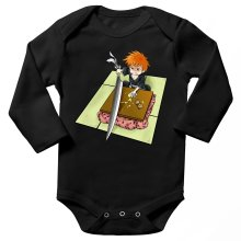 Funny  Long sleeve Baby Bodysuit - Ichigo with his Zanpakuto ( Parody) (Ref:131)