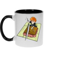 Funny  Mug - Ichigo with his Zanpakuto ( Parody) (Ref:131)