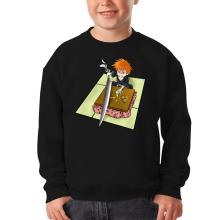 Funny  Kids Sweater - Ichigo with his Zanpakuto ( Parody) (Ref:131)